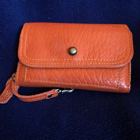 Lumi wallet in rust leather